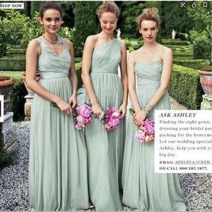 J Crew Weddings and Parties Grey Silk Dress 10P